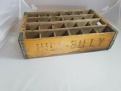 Vintage Antique Hillbilly Hill Billy Pop Soda Wooden Crate Unique(Mountain Dew?)