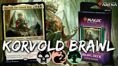 Throne of Eldraine Savage Hunger Brawl Deck (w/o Korvold, Tower & Signet)