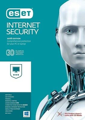 ESET NOD32 Internet Security 2019 for 3PCs Product Key Brand New, Free Shipping