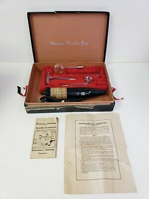 Vintage 1926 Antique Vintage Master Violet Ray (Works) QUAKE QUACKERY medical
