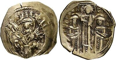 Hyperpyron of Andronicus II Palaeologus, with Michael IX (1282--1328).Nice coin!