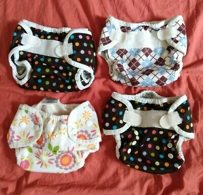 Lot of 4 Thirsties Duo Wrap Cloth Diaper Covers, Size One 6-18 lbs