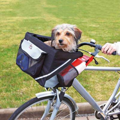 Trixie Dog Front Bicycle Box Padded w/ Pockets, Reflective Stripes & Short Leash