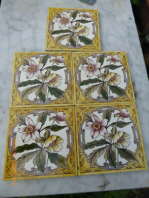5 Fireplace  Floral  Tiles  By  Sherwin Cotton