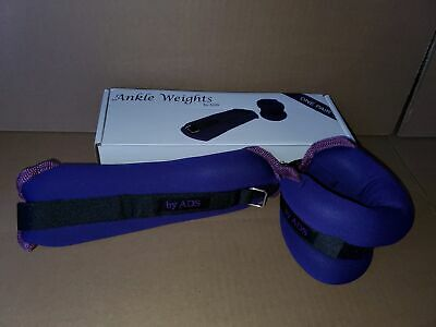 Ankle Weights 2 lb Fully Adjustable Ankle Wrist Arm Leg Weights 4-lb Pair Purple