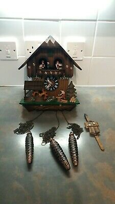 Large Vintage Regula Black Forest Musical Animated Cuckoo Clock spares or repair