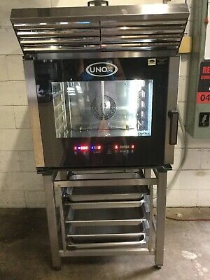 Commercial Kitchen Restaurant Cafe UNOX 5 Tray Combi OVEN Bonus Hood & Stand