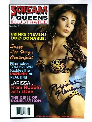 BRINKE STEVENS Authentic Hand Signed Autograph 4X6 Photo -SEXY- QUEEN OF SCREAM