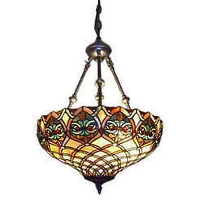 Serena D'italia Tiffany-style Baroque 2-light Hanging Lamp Ceiling Chandelier