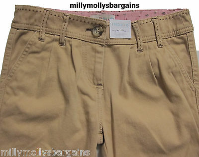 New Girls Marks & Spencer Brown Trousers Age 6-7 5-6 Years