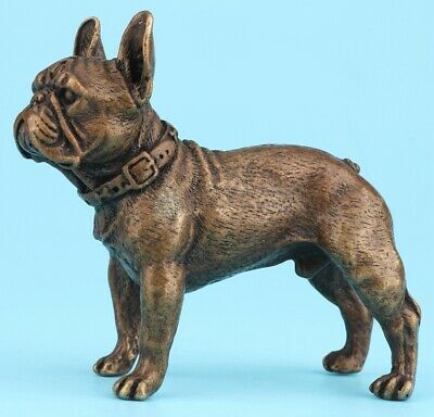 Retro China Bronze Statue Animal Dog Mascot Home Decoration Old Collection Gift