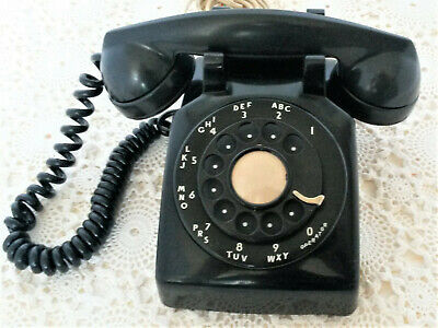 Vintage Rotary Dial Desk Telephone 5302G Western Electric Bell System Working