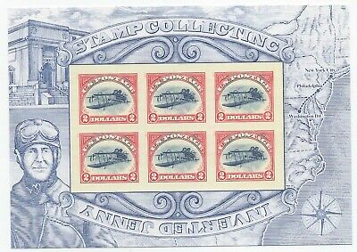 OPENED 2013 $2 Inverted Jenny sheet of six stamps Scott 4806 $12 face value each