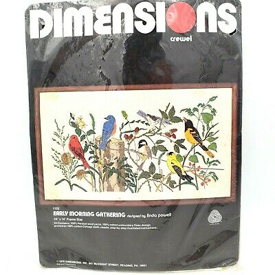 Vintage Dimensions Crewel Embroidery Kit #1122 Early Morning Gathering Sealed
