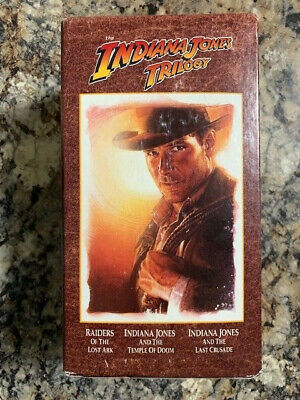 The Indiana Jones Trilogy VHS 3-Movie Set (1989) New Sealed