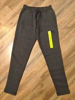 Puma Mens Fleece Pants Heathered Grey Size Small NWT New With Tags