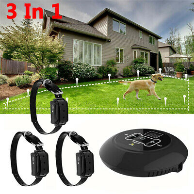 Wireless Electric Dog Collar System Transmitter Fences Containment Waterproof