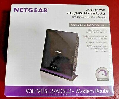 NETGEAR D6400 AC1600 Dual Band Gigabit WiFi Modem Router - New/Sealed