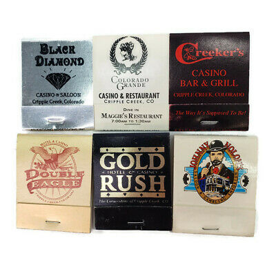 Vintage Cripple Creek Casino Matchbooks Gold Rush Black Diamond Creeker's Nolons