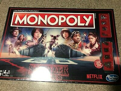 Monopoly Stranger Things Special Edition Hasbro Board Games Netflix Board Game