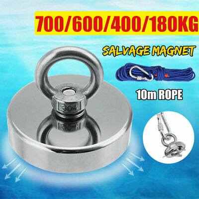 Pull Salvage Strong Recovery Magnet Fishing Treasure Neodymium with Rope