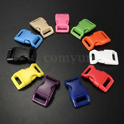 10x 10mm Plastic Side Quick Release Buckles For Webbing Bag Strap Clips 3/8'' UK