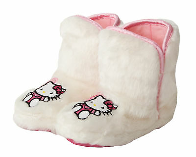 Hello Kitty Girls Furry Boot Slippers Infants Kids Sizes 9 and 10.