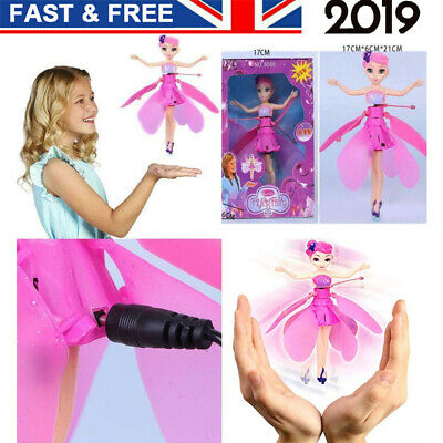 Kids Flying Fairy Toy Princess Dolls Magic Induction Control Xmas Children Gifts