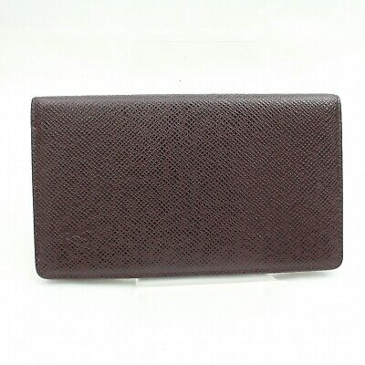 Authentic Louis Vuitton Diary Cover Agenda Posh Bordeaux Taiga 1202580