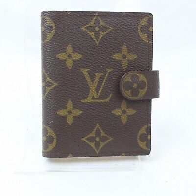 Authentic Louis Vuitton Diary Cover Agenda Mini Browns Monogram 1202484