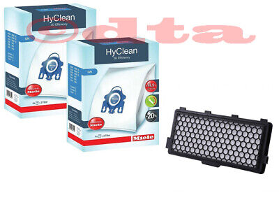 Miele GN HyClean 3D Efficiency Vacuum Cleaner Bags - 2x Boxes + 1x Hepa Filter