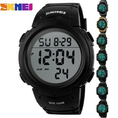 SMAEL Mens Waterproof Sport Military Shock Analog Quartz Digital Watches Gift UK