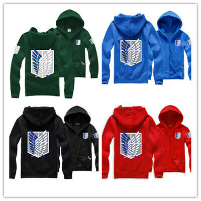 Hot Anime Shingeki No Kyojin Attack on Titan Cosplay Uniform Hooded Jacket Coat