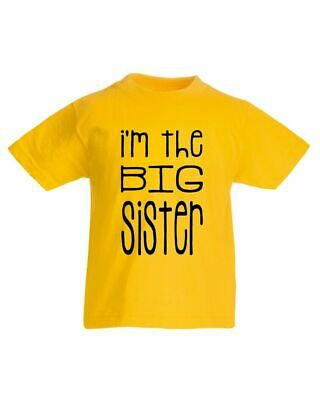 I'm The Big Sister T-Shirt, Funny Little Brother Sister Girls Kids Tee Top