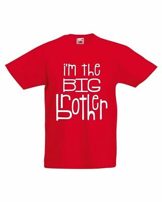 I'm The Big Brother T-Shirt, Funny Little Brother Sister Boys Kids Tee Top
