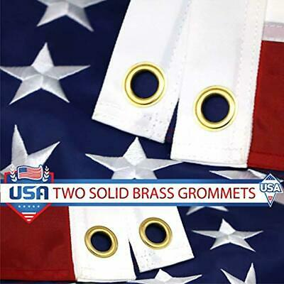 American USA US Flag 3x5 ft Embroidered Stars Sewn Stripes Brass Grommets