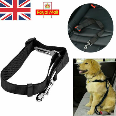 Black Dog Pet Car Safety Seat Belt Harness Restraint Adjustable Lead Travel Clip