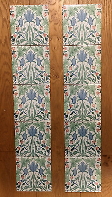 William Morris Tulip 2 Fireplace Tile Set (10 Tiles)