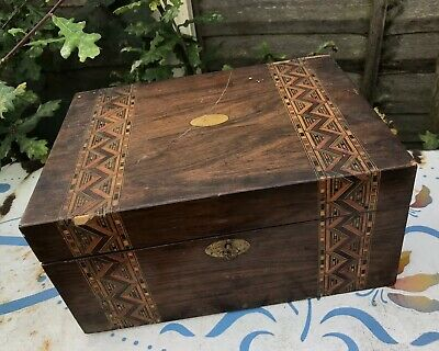 Antique Writing Slope Box Inlaid