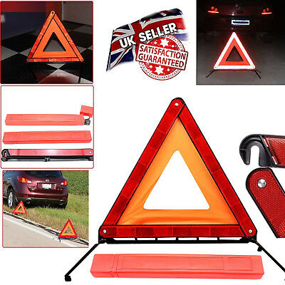 Reflective Warning Sign Foldable Triangle Car Hazard Breakdown Emergency