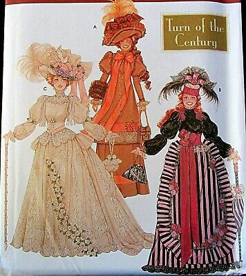 """Turn of the Century 11.5"""" Doll Collectors Club dress pattern Victorian"""