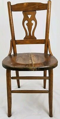 Strange Antique Arts Crafts Oak Dining Chair With Tooled Leather Ncnpc Chair Design For Home Ncnpcorg