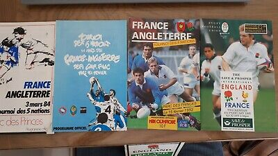 Five Nations Rugby Union England vs France Programmes 1984, 1986, 1992, 1995