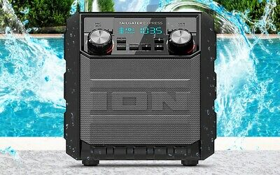Ion Tailgater GO Bluetooth Portable Rechargeable Speaker with Built in Radio