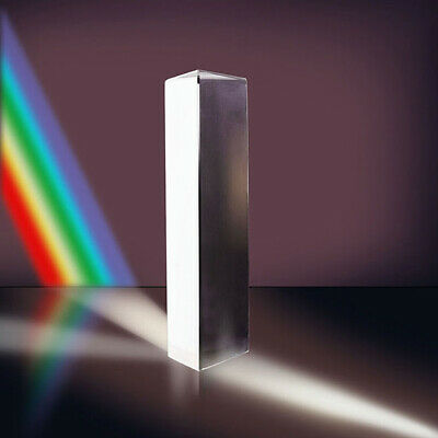 Optics Experiment K9 Optical Glass Equilateral Triple Triangular Triangle Prism