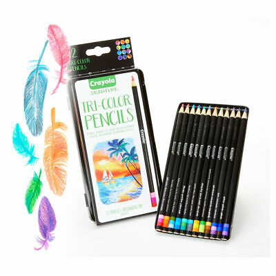 Crayola 12ct Tri Coloured Pencils - Professional colouring pencils for artists