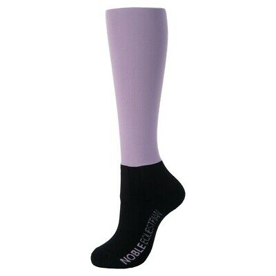New! Noble Equestrian Over The Calf Peddies Solid Purple Ash Long Riding Socks