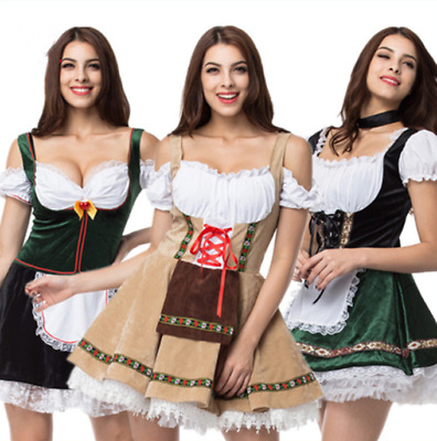 AU Women Octoberfest  Beer  Costume Bavarian Dirndl Oktoberfest Fancy Dress ****