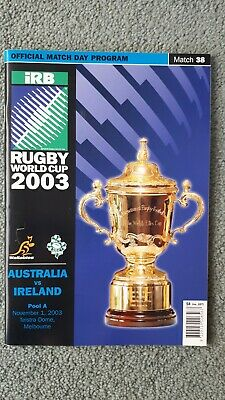 Rugby World Cup 2003 Australia vs Ireland Programme