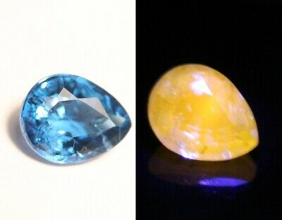 0.48ct Afghanite - Rare Fluorescent Electric Blue Faceted Gem